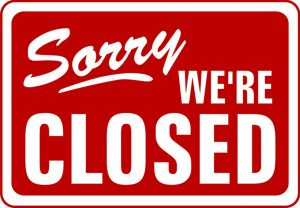 Closed for Cleaning/Staff Party
