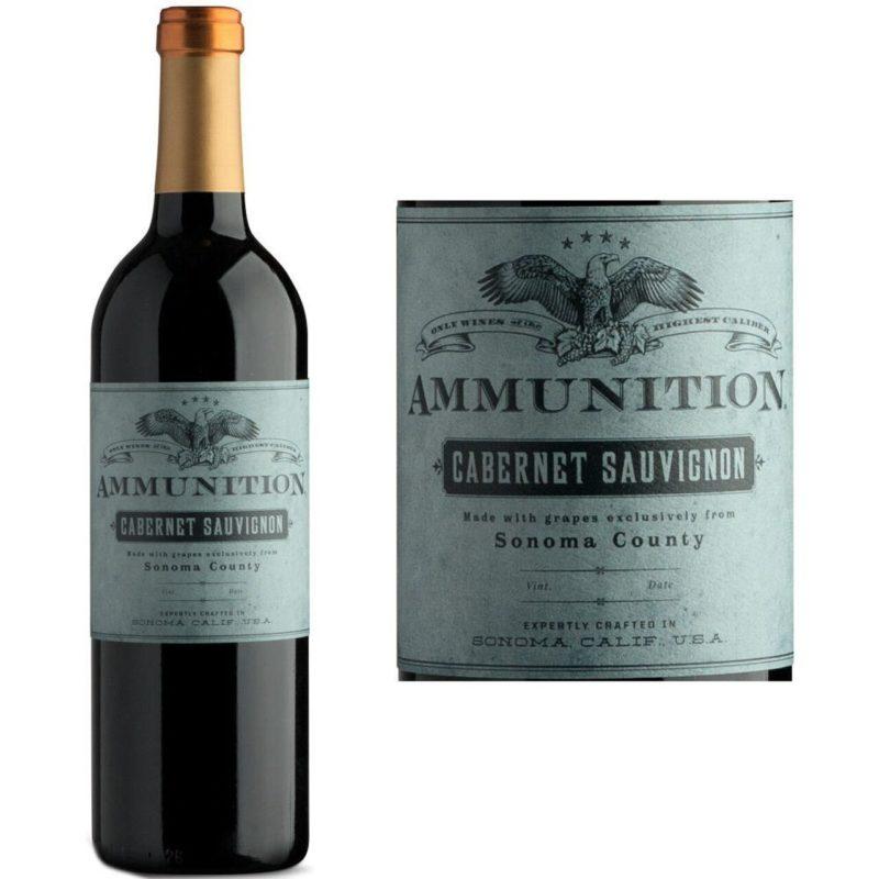Ammunition Cabernet Sauvignon bottle and label